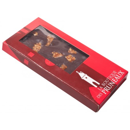Tablette chocolat noir nougatine caramélisée