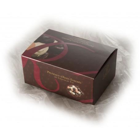 Pruneaux enrobés de chocolats 3 parfums - Ballotin de 500g