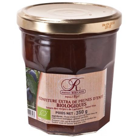 Confiture de prunes BIO maison - Bocal 350g