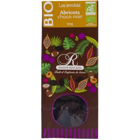 Abricots BIO enrobés de chocolat noir BIO - sachet 130g