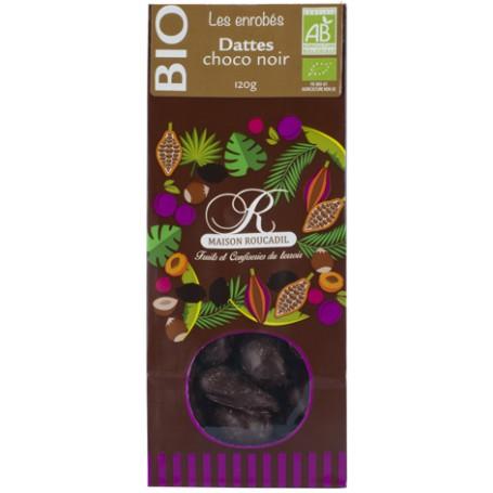 Dattes BIO enrobées de chocolat noir BIO - sachet 120g