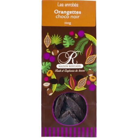 Orangettes enrobées de chocolat noir 100g