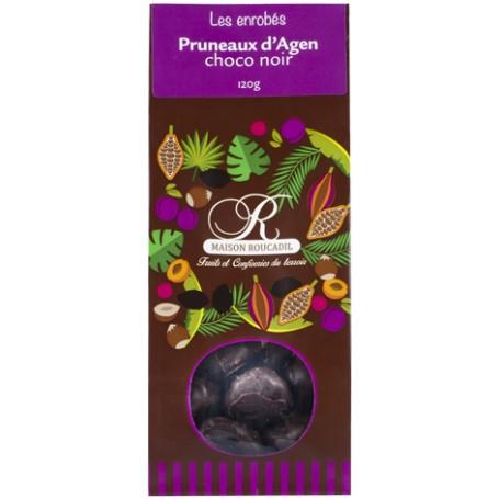 Pruneaux d'Agen enrobés de chocolat noir - sachet 120g