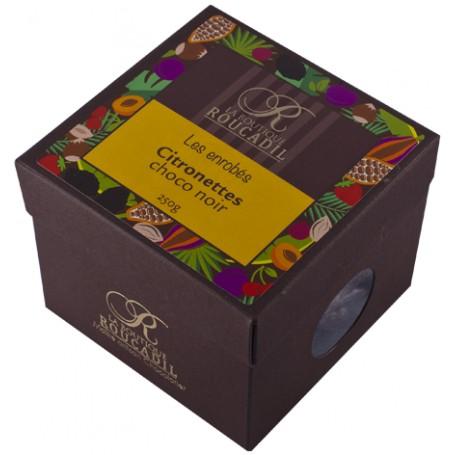 Citronettes enrobées de chocolat noir - boîte 250g