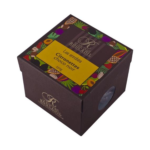 Citronettes enrobées de chocolat noir 250g