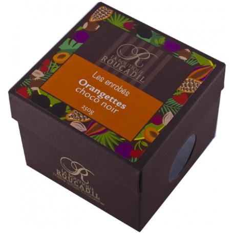Orangettes enrobées de chocolat noir - boîte 250g
