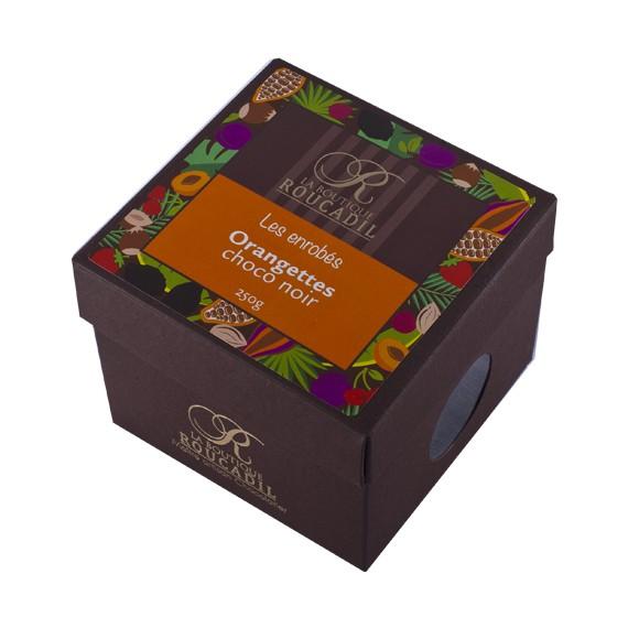Orangettes enrobées de chocolat noir