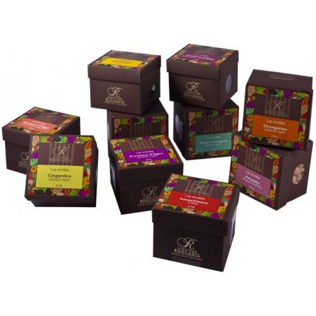 Assortiment Lilou - Mélange de fruits enrobés de chocolat noir - boîte 300g