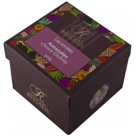 Amandes enrobées de chocolat Dulcey - boîte 300g