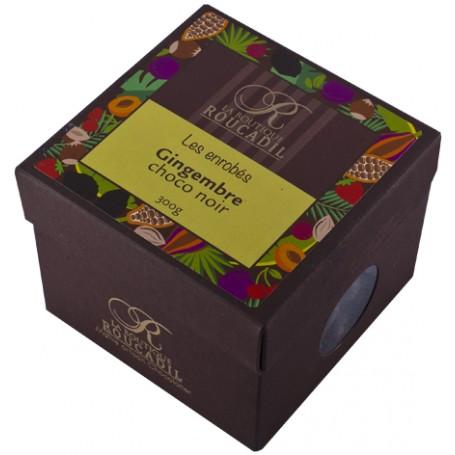 Gingembre enrobé de chocolat noir - boîte 300g