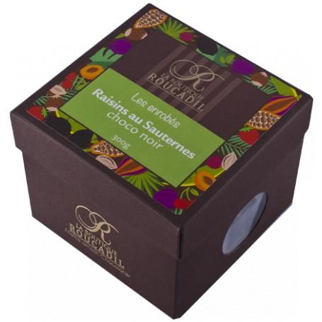 Raisins aromatisés au Sauternes enrobés de chocolat noir - boîte 300g
