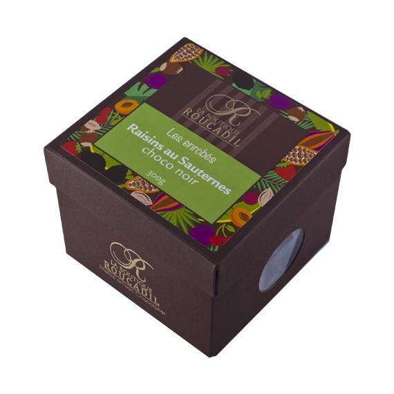 raisins au sauternes enrobés de chocolat noir