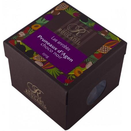 Pruneaux d'Agen enrobés de chocolat noir - boîte 400g