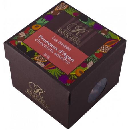 Pruneaux d'Agen enrobés de chocolats assortis - boîte 400g