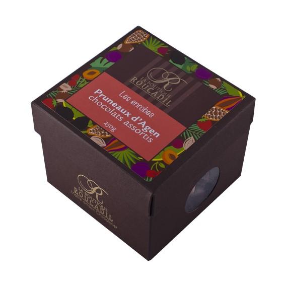Pruneaux d'Agen enrobés de chocolats assortis