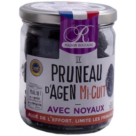 Pruneaux d'Agen mi-cuits - Bocal verre 300g