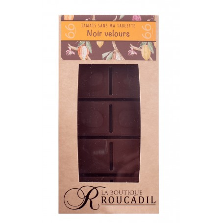 Tablette chocolat noir velours 66% - 100g