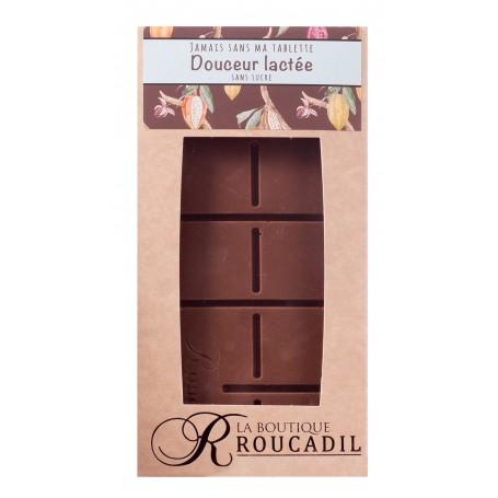 Tablette chocolat au lait sans sucre - 100g