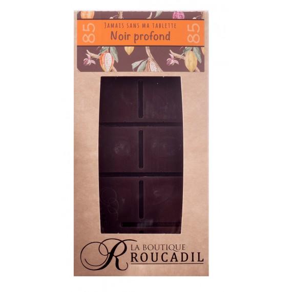 Tablette chocolat noir profond 85%