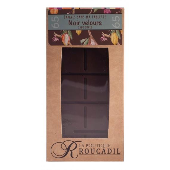 Tablette chocolat noir velours - sans sucre 100g