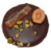 Mendiants au chocolat noir cœur crème de pruneaux