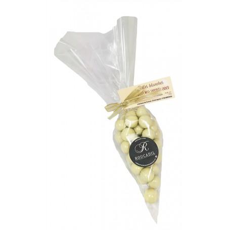 Billes blanches - Miel enrobé choco - 150g