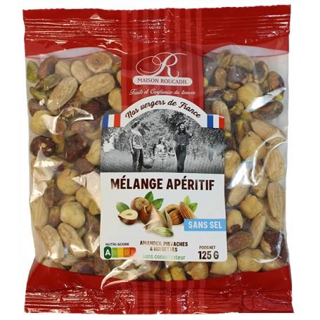 Mélange apéritif, amandes, pistaches, noisettes - sachet 125g